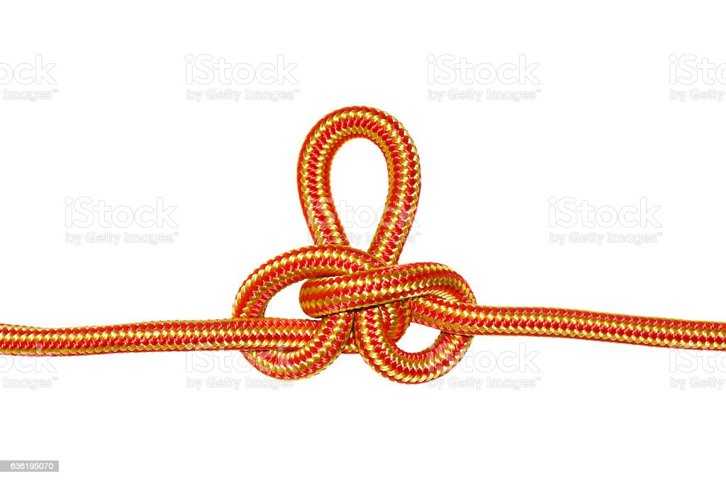 Austrian conductor knot. stock photo