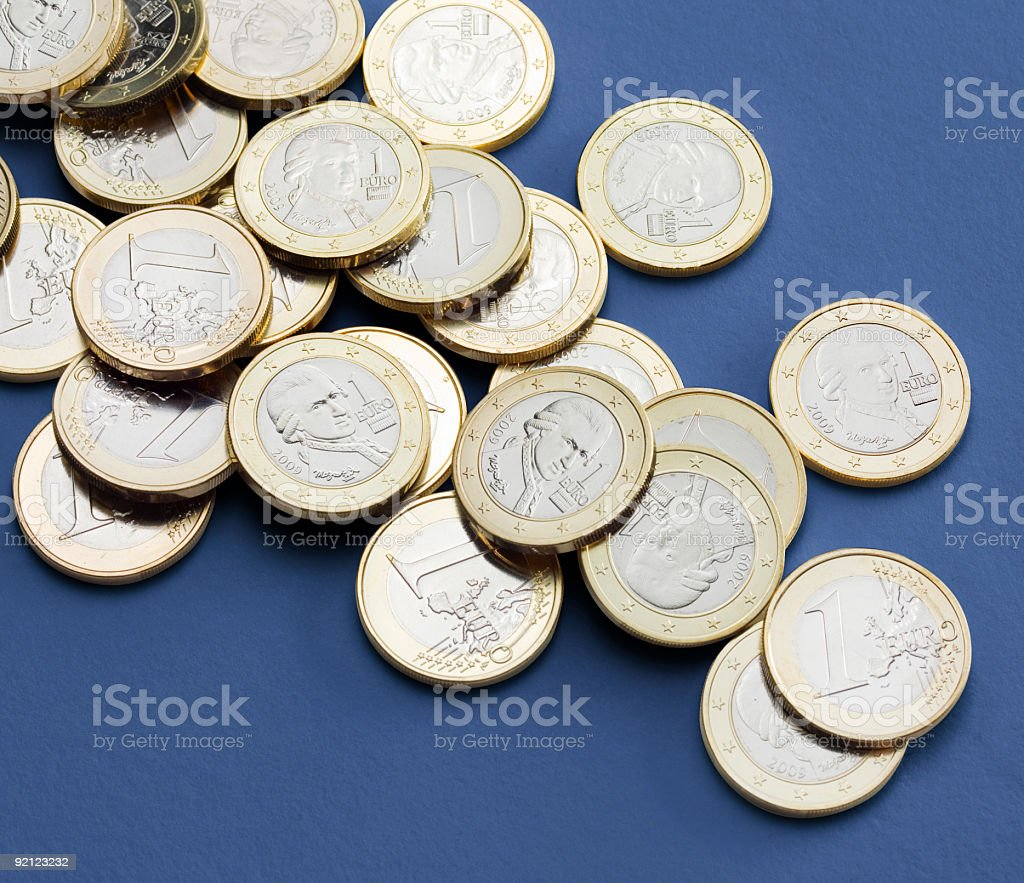 Austrian Euro Coins in high resolution ( 33 megapix.) stock photo