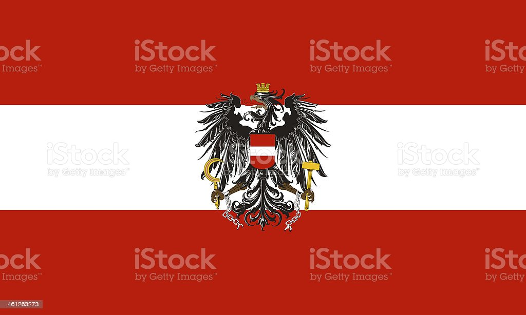 austrian flag eagle stock photo