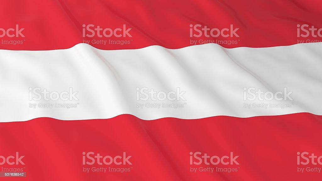 Austrian Flag HD Background - Flag of Austria 3D Illustration stock photo