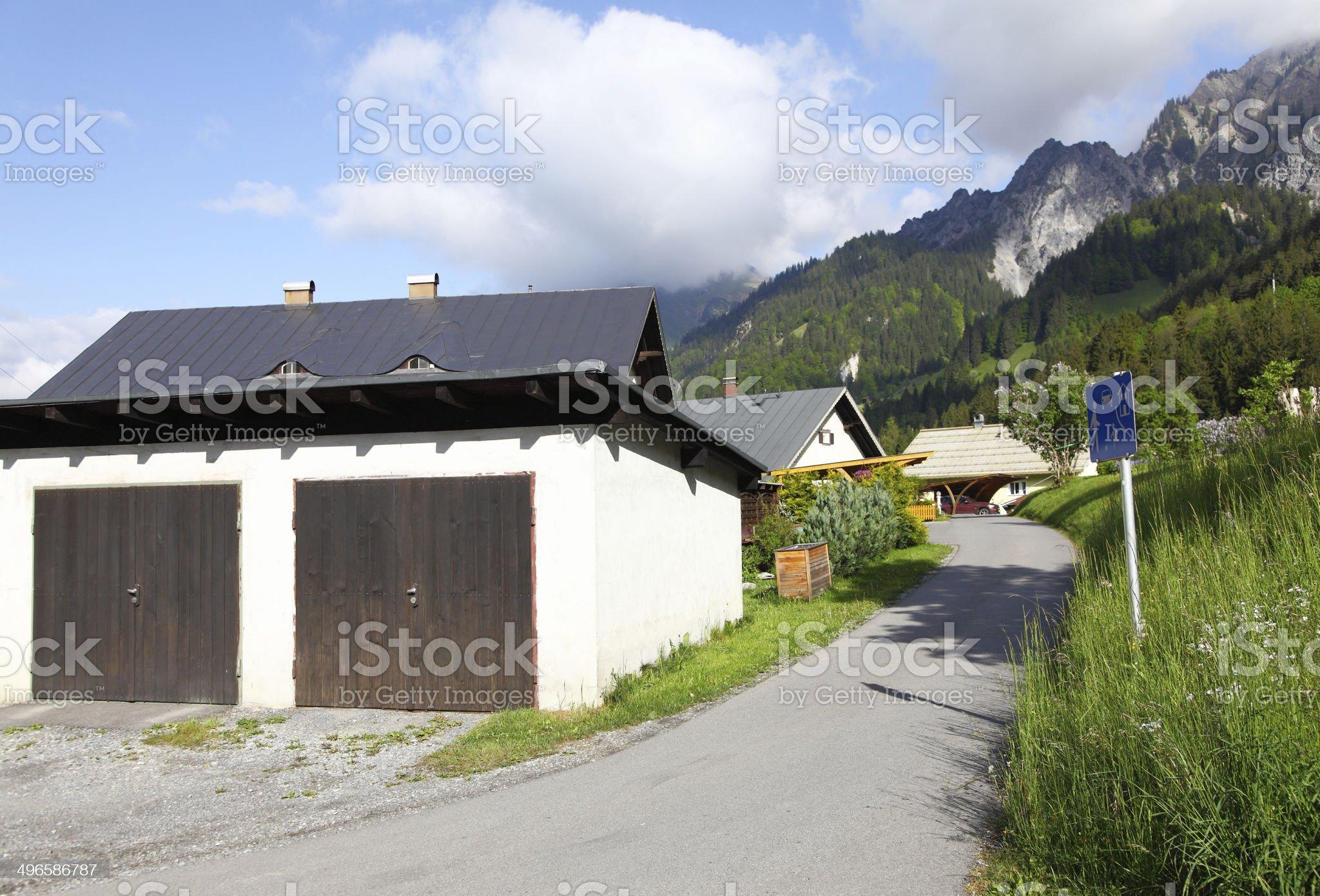 Austrian garages royalty-free stock photo