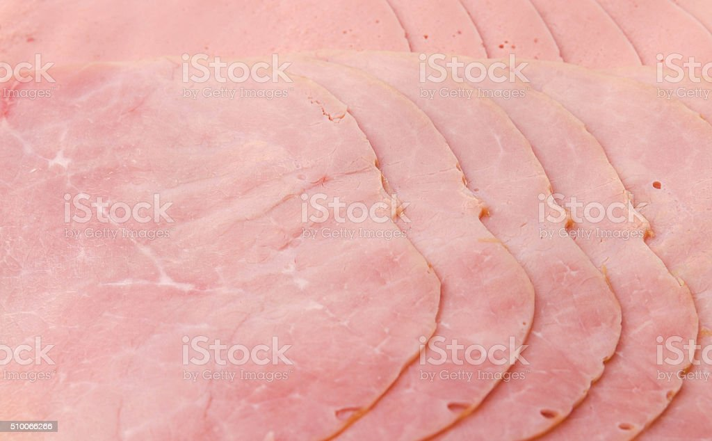 Austrian German Backofenschinken pork sausage cold cuts stock photo