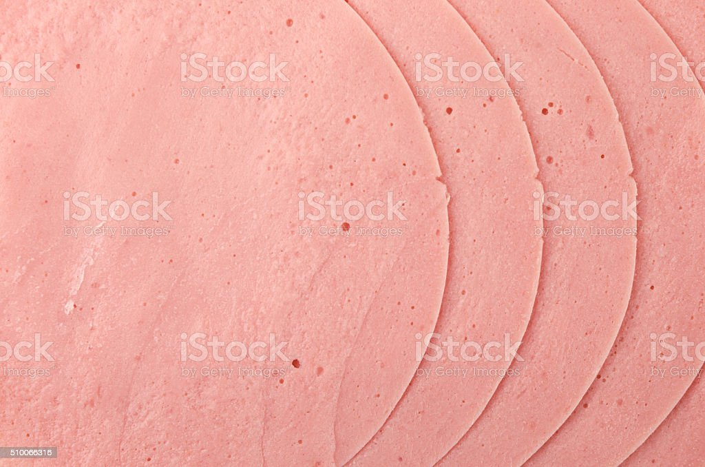 Austrian German Extrawurst pork sausage cold cuts stock photo