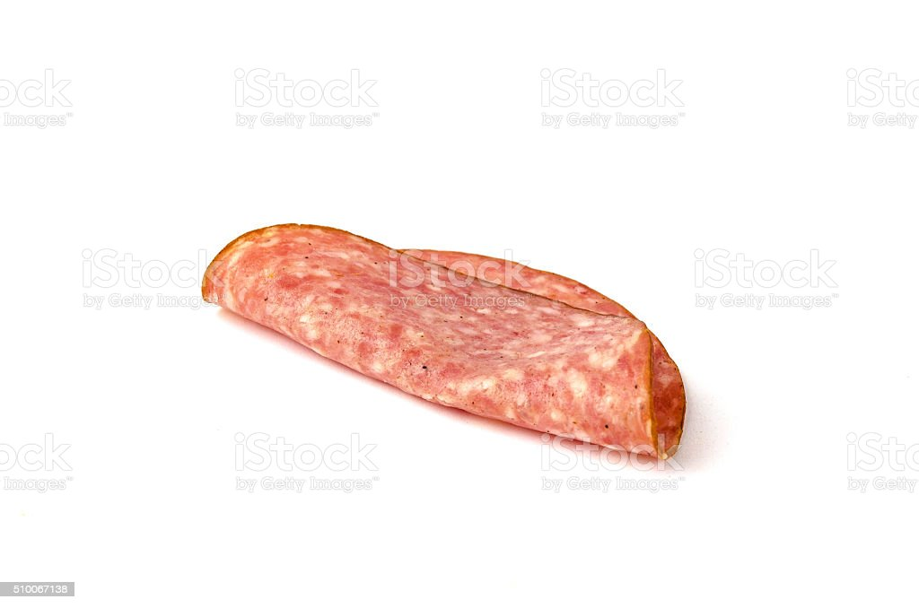 Austrian German pork sausage cold cut stock photo