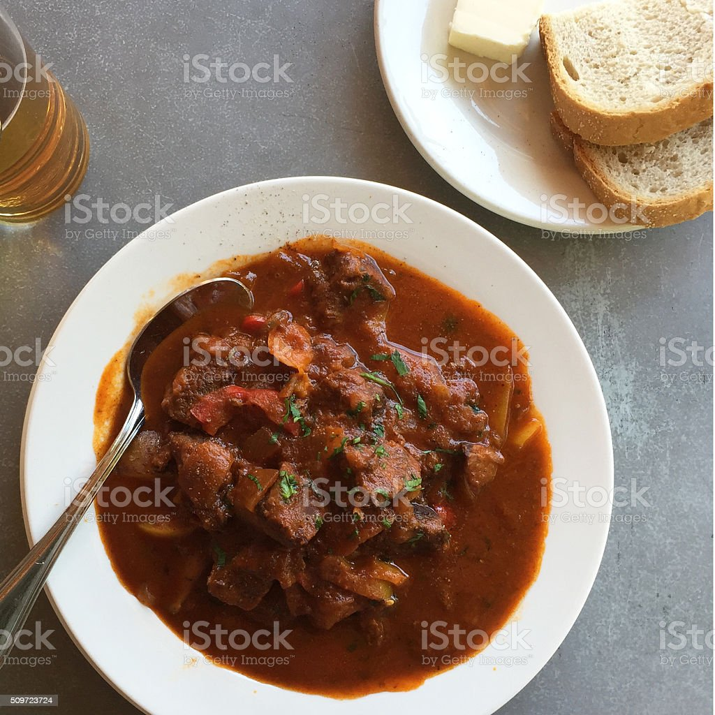 Austrian Goulash stock photo