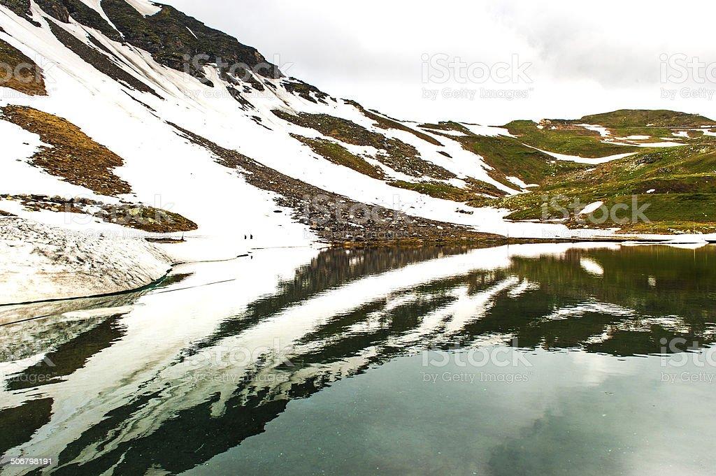 Austrian lake royalty-free stock photo