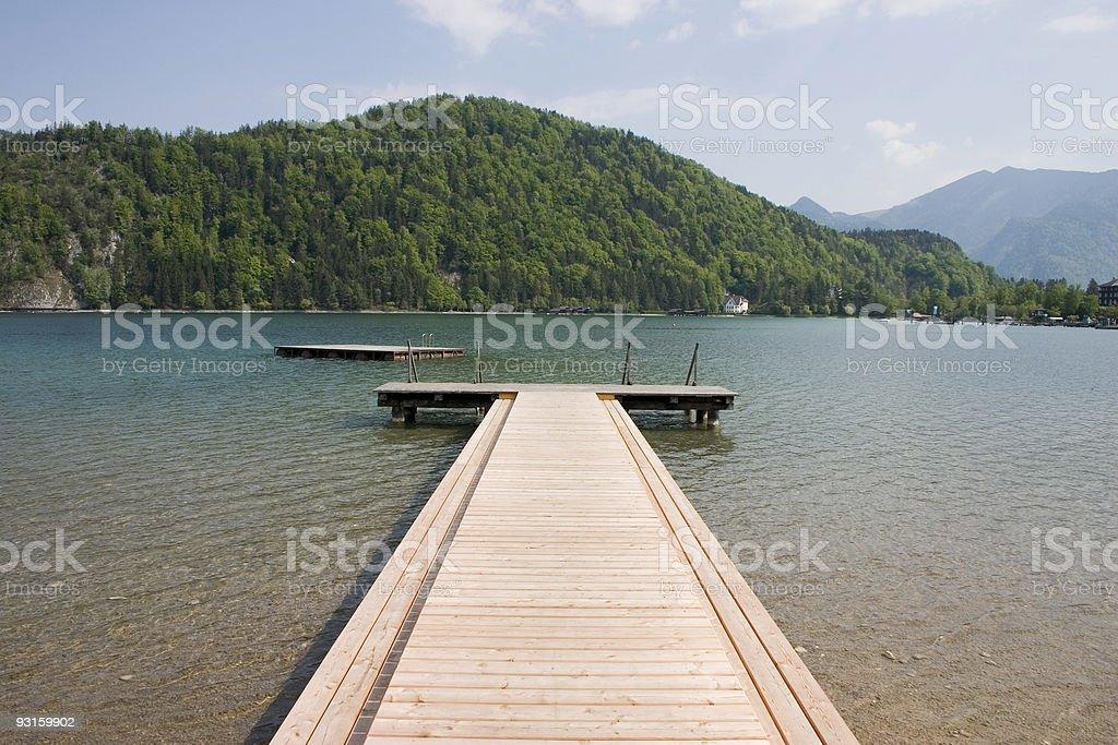 Austrian landing stage royalty-free stock photo