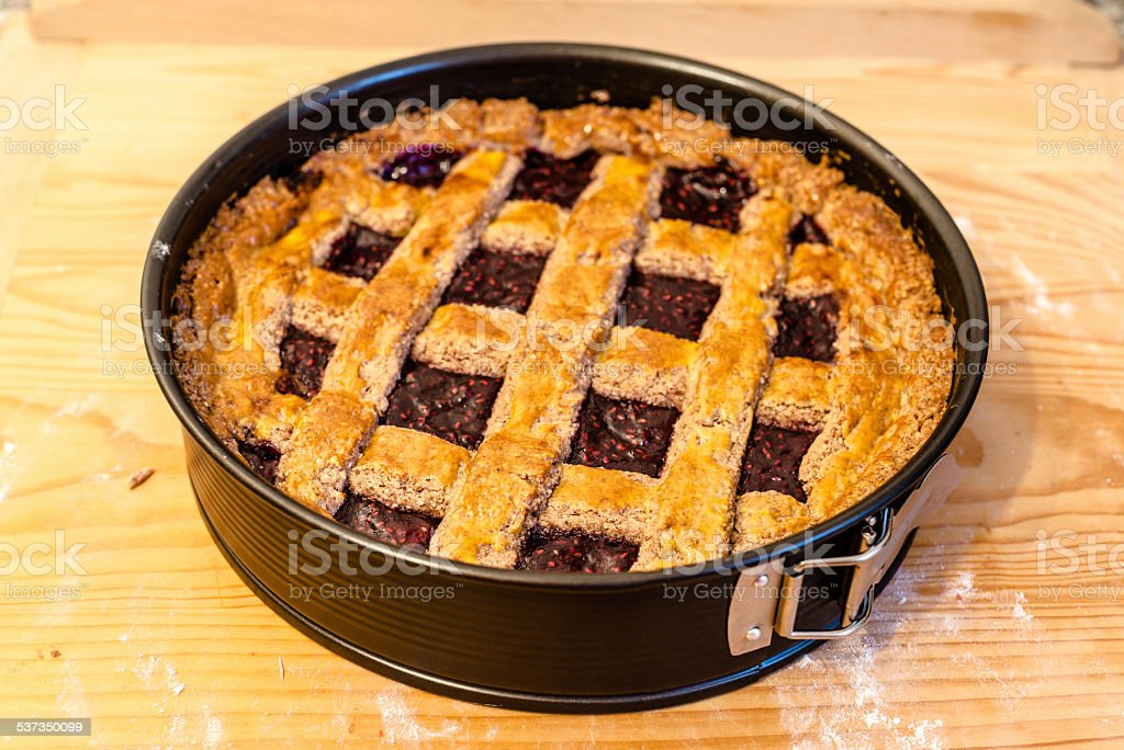 Austrian Linzer Tarte stock photo