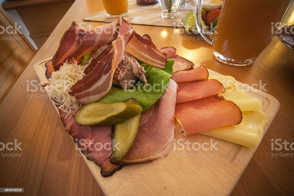 austrian meal on a plate stock photo
