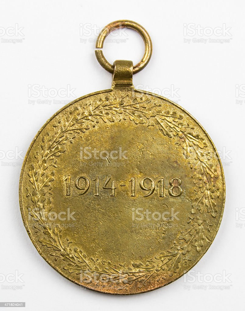Médaille autrichienne 1914 1918 royalty-free 스톡 사진