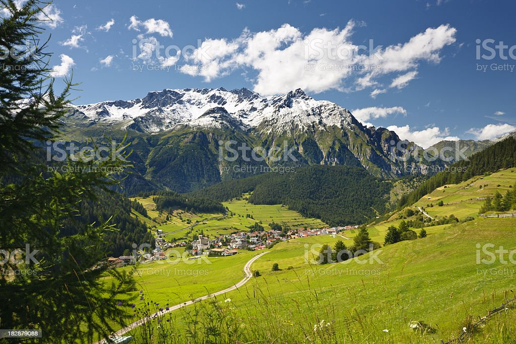 Austrian Mountain Landscape stock photo