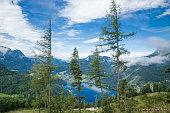Austrian Mountains Landscape Scene in Europe