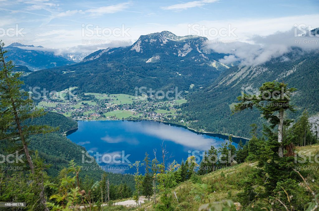 Austrian Mountains Landscape Scene in Europe stock photo