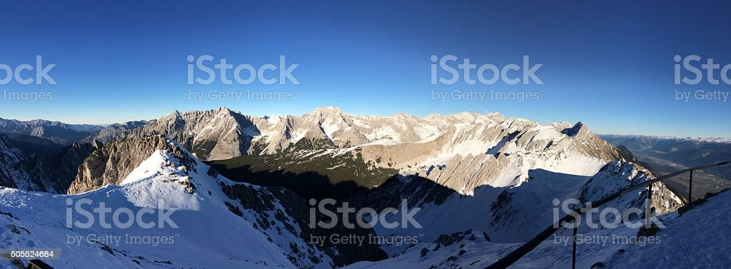 Austrian mountains overview stock photo