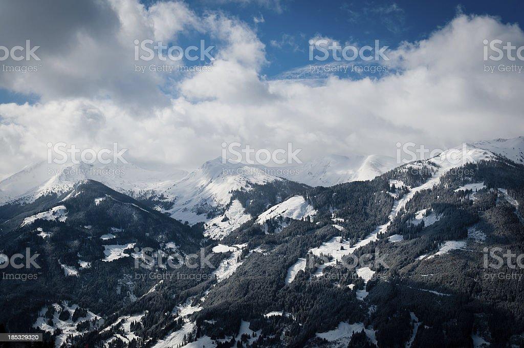 Austrian mountains stock photo