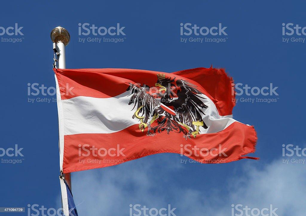 Austrian National Flag royalty-free stock photo