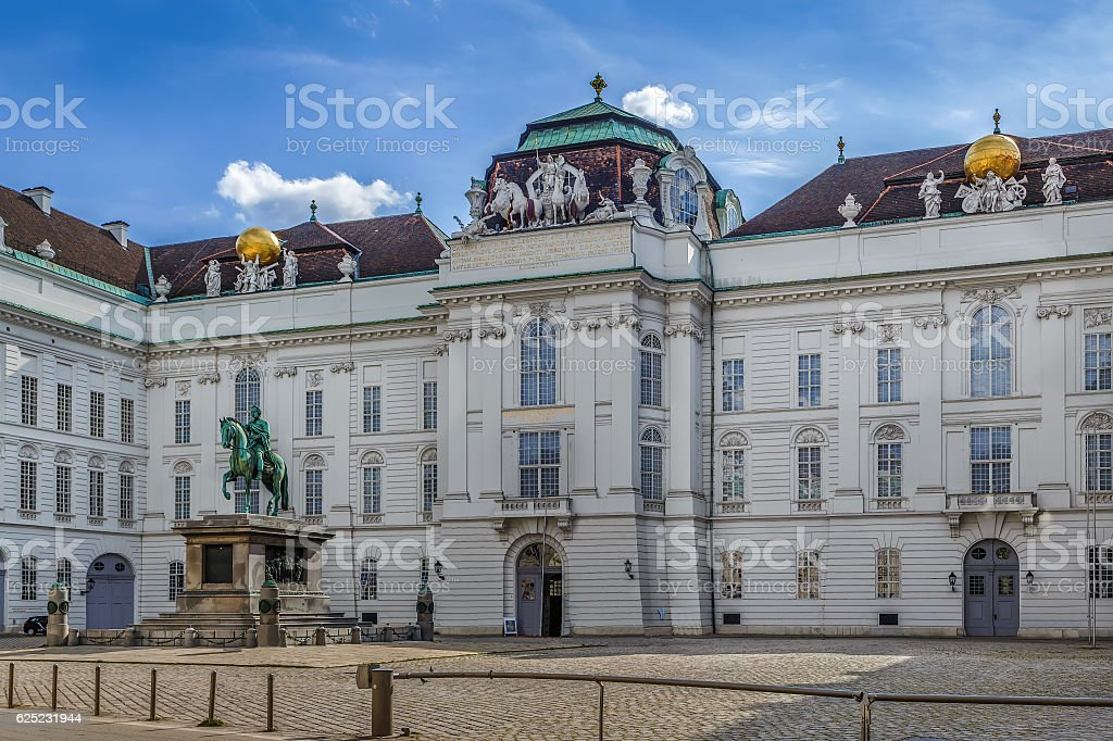 Austrian National Library, Vienna stock photo