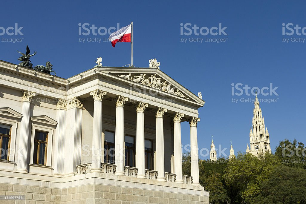 Austrian Parliament Building royalty-free stock photo