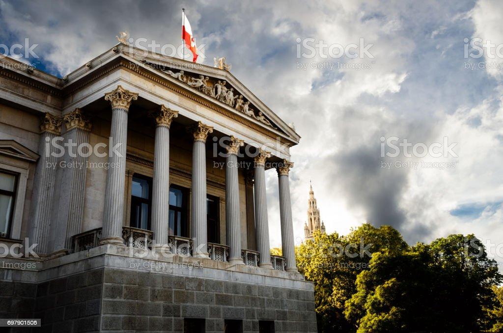 Austrian Parliament Building stock photo