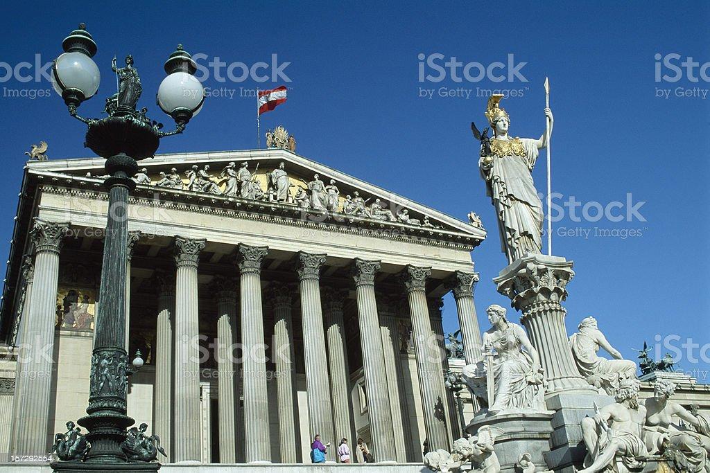 Austrian Parliament Building Vienna in Austria stock photo