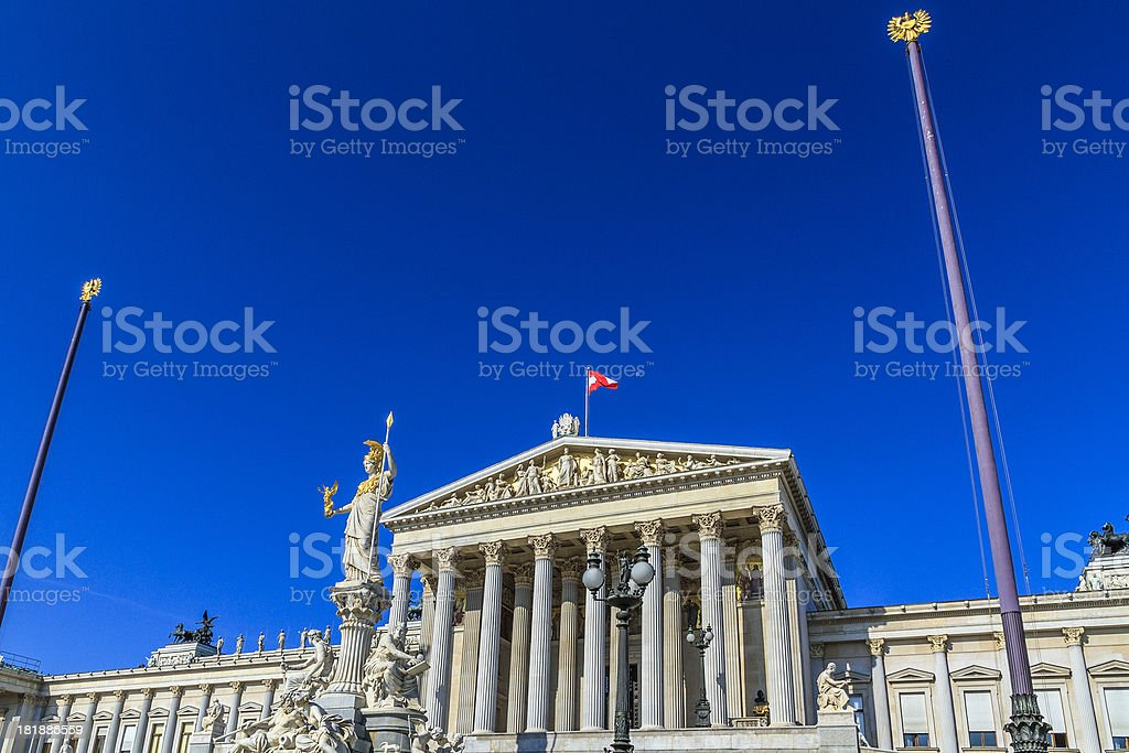 Austrian Parliament Building, Vienna royalty-free stock photo