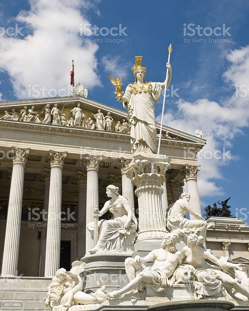 Austrian Parliament Building, Vienna stock photo