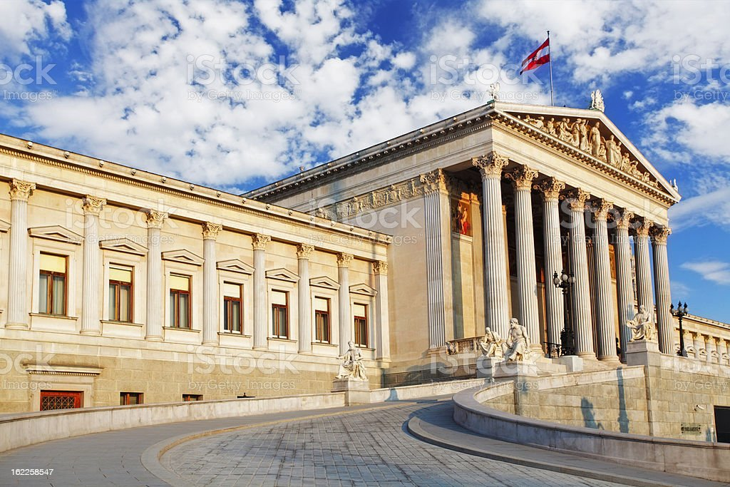Austrian Parliament in Vienna - Austria royalty-free stock photo