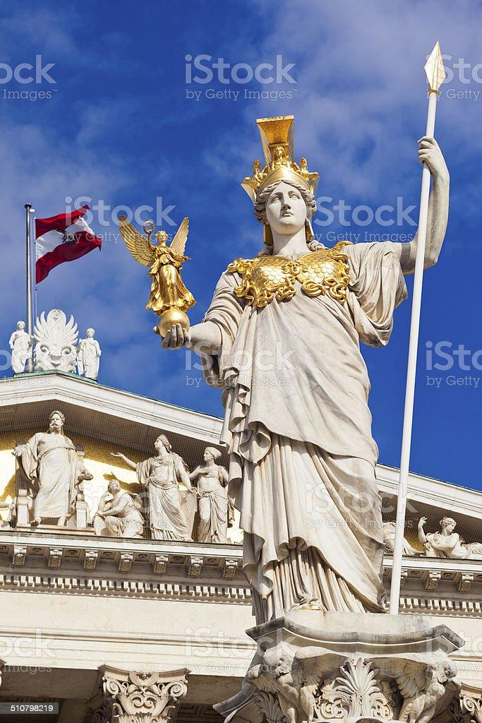 Austrian Parliament In Vienna stock photo