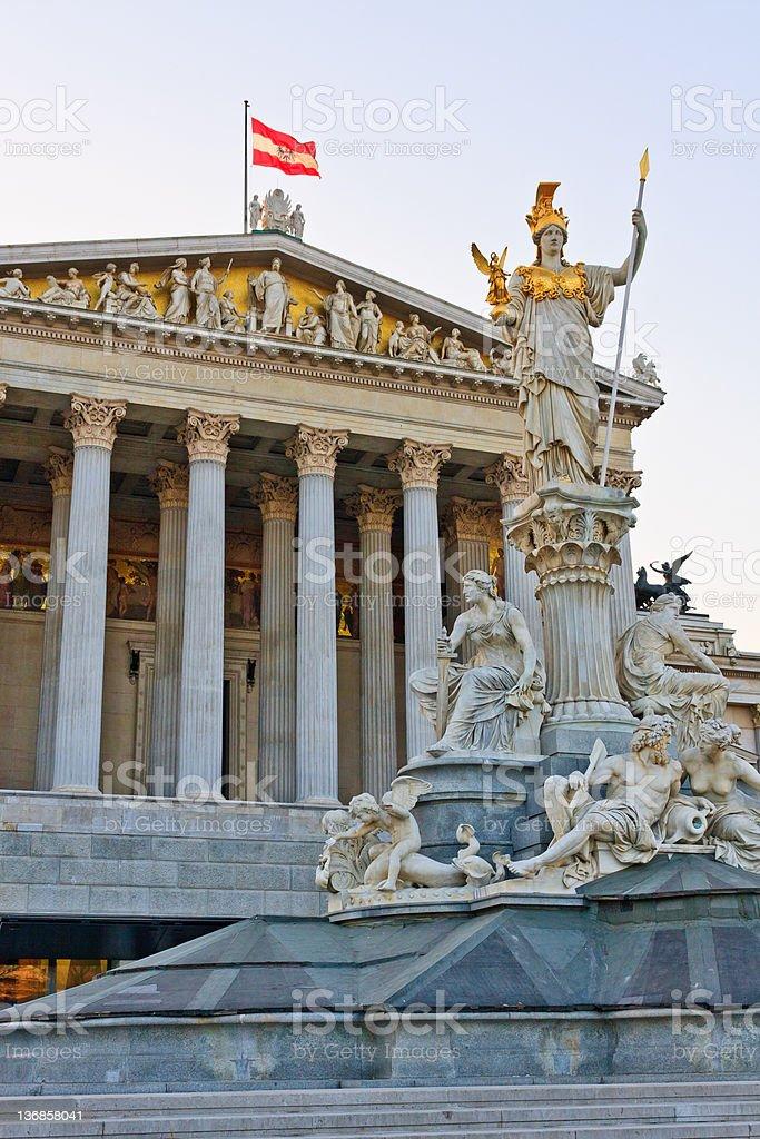 Austrian Parliament stock photo