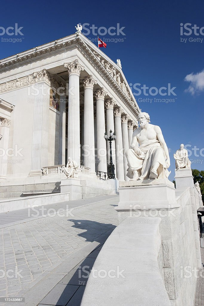 Austrian Parliament - Vienna stock photo