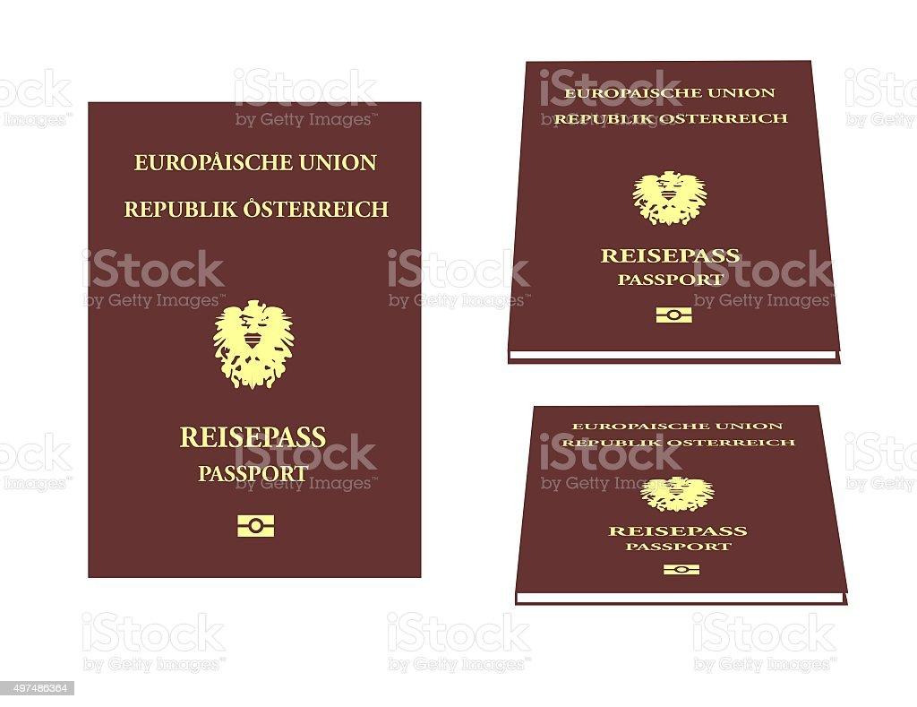 Austrian passport stock photo