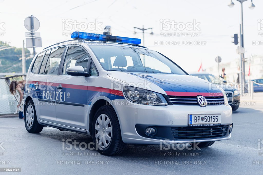 Austrian Police Car stock photo