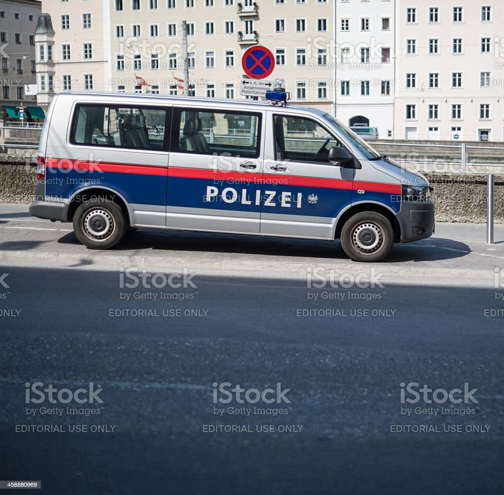 Austrian Police Car royalty-free stock photo