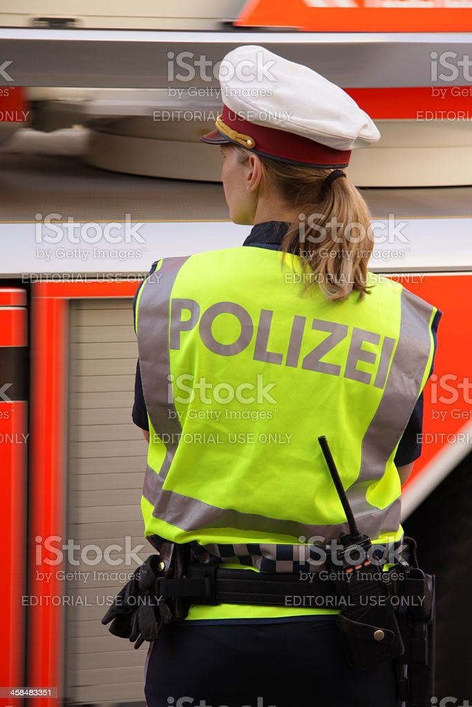Austrian police officer stock photo