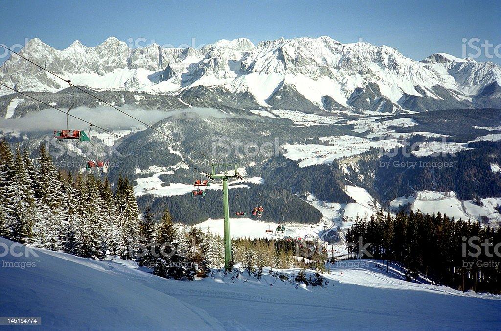 Austrian Ski Holiday stock photo