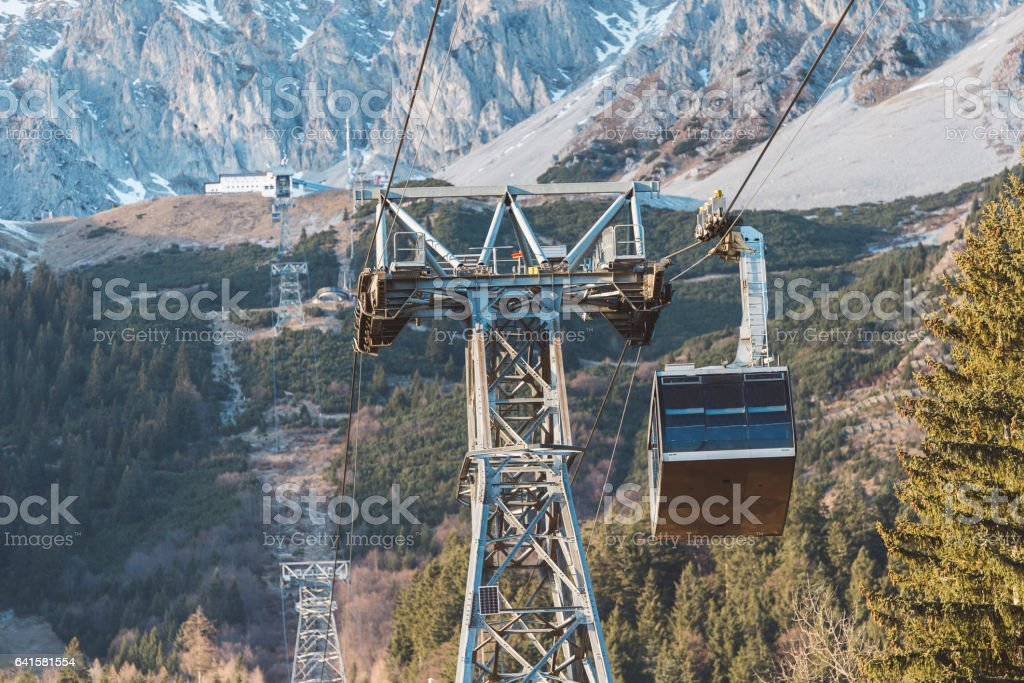 Austrian ski resort in Autumn stock photo