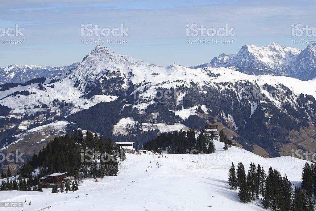 Austrian Ski Run. stock photo