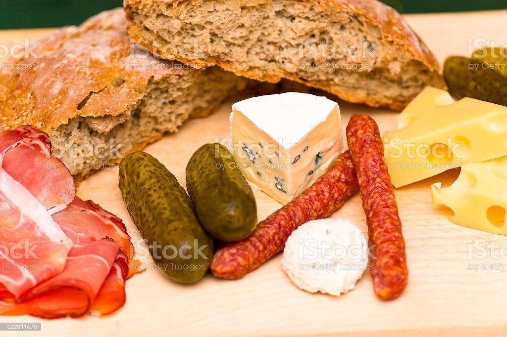 Austrian Snack Plate stock photo