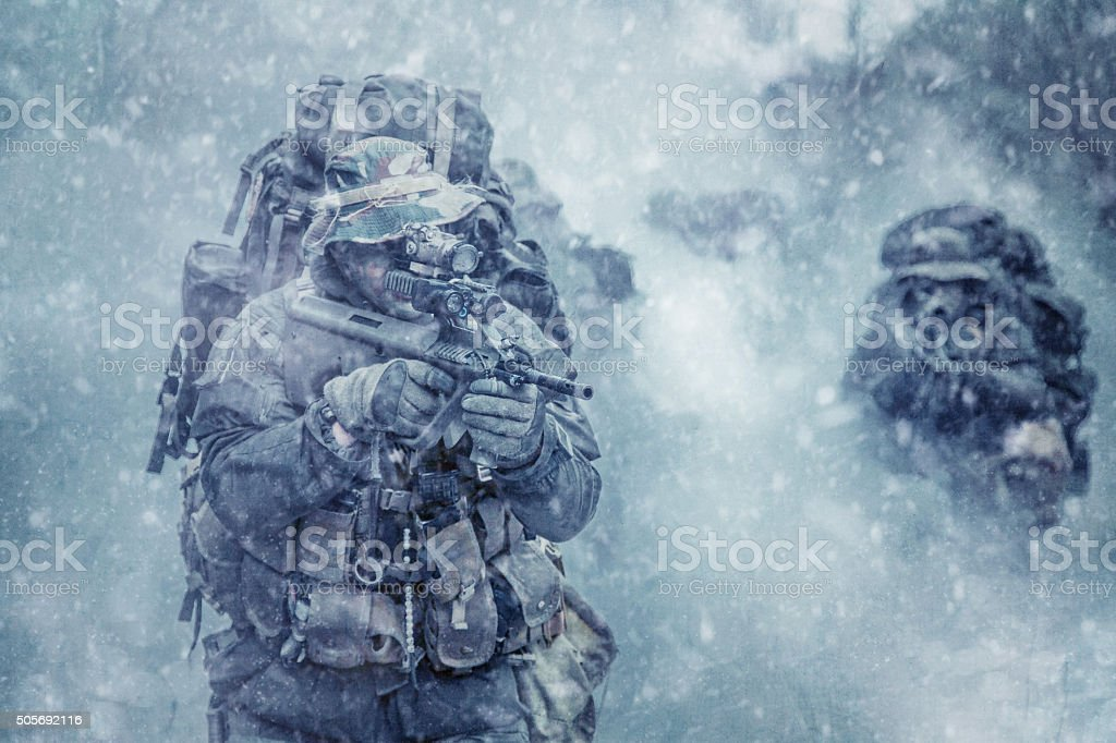 Austrian special forces stock photo