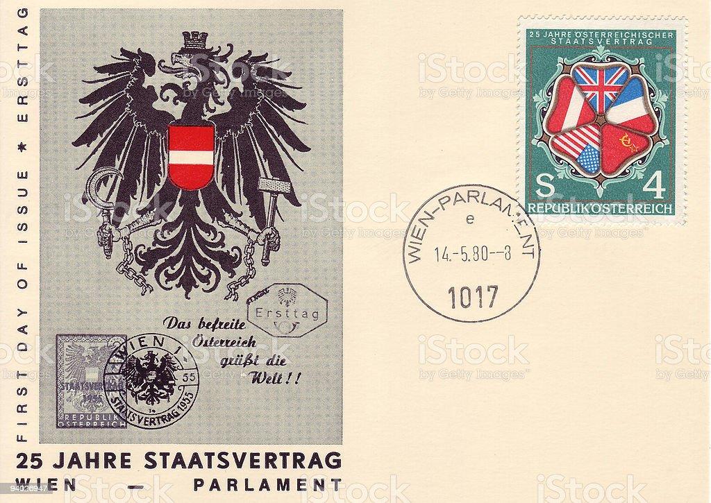 Austrian Stamp stock photo