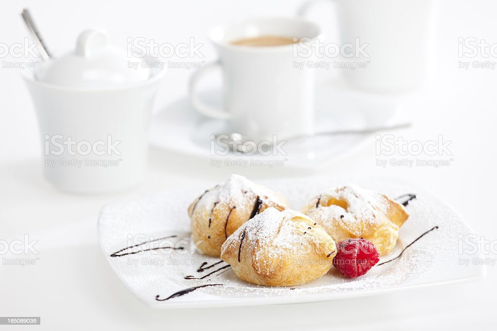 austrian sweet snack with cup of coffee stock photo