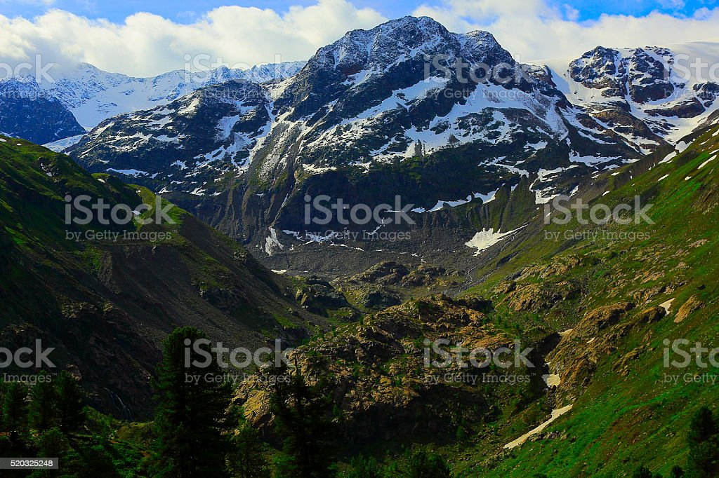 Austrian Tirol landscape, Hohe Tauern, KAUNERTAL alpine road stock photo