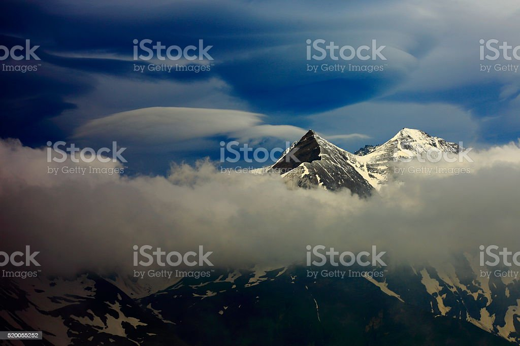 Austrian Tirol landscape, Hohe Tauern National Park, GROSSGLOCKNER alpine road stock photo