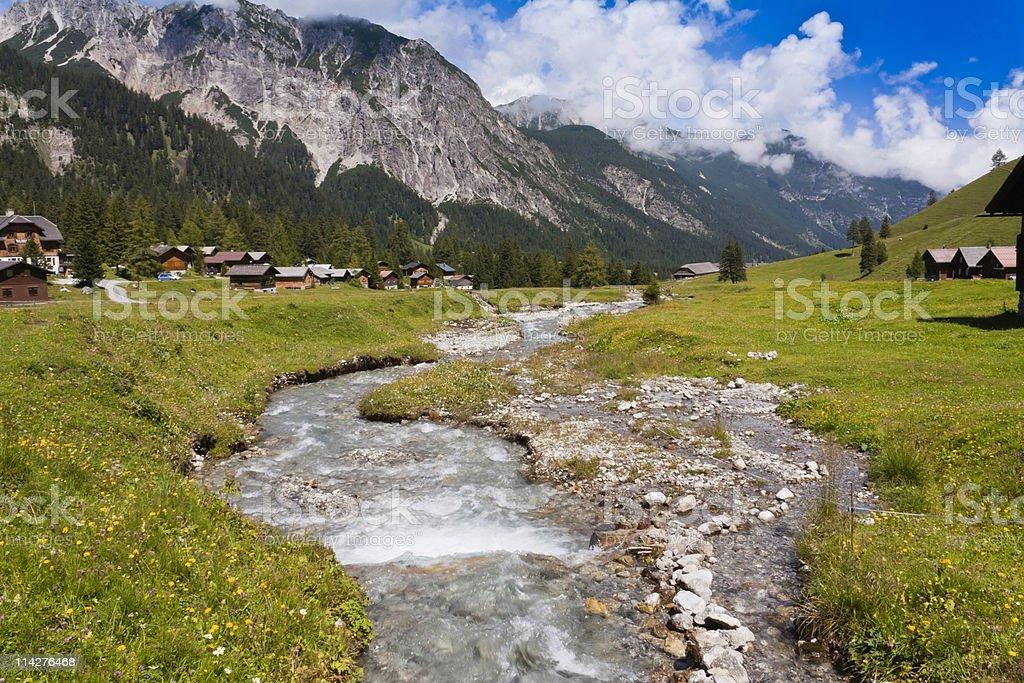 Austrian Valley royalty-free stock photo