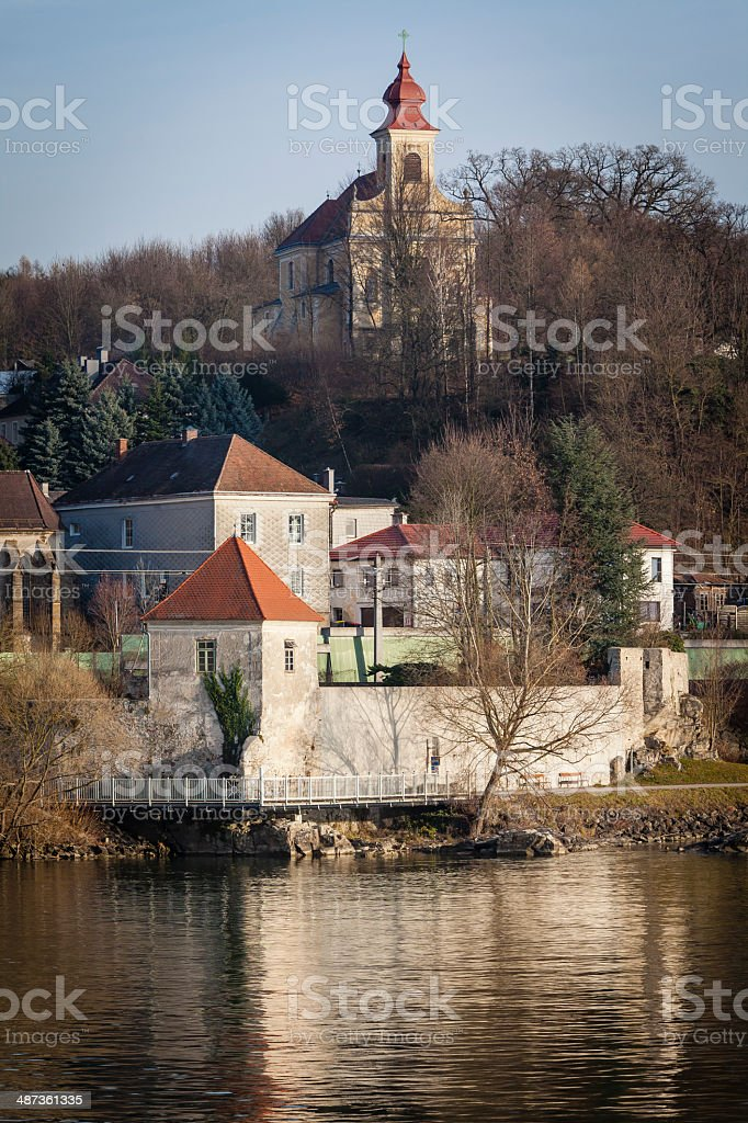 Austrian Village on Danube River stock photo