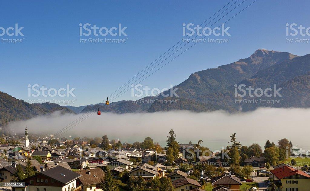 austrian village St. Gilgen stock photo