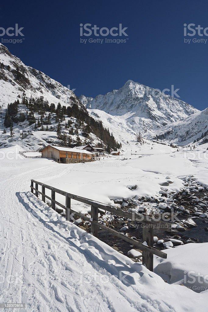 Austrian Winter Landscape stock photo