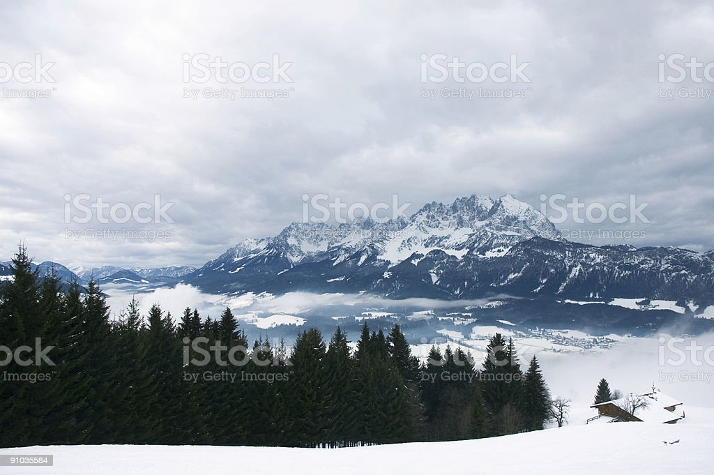 Austrian Winter Landscape royalty-free stock photo