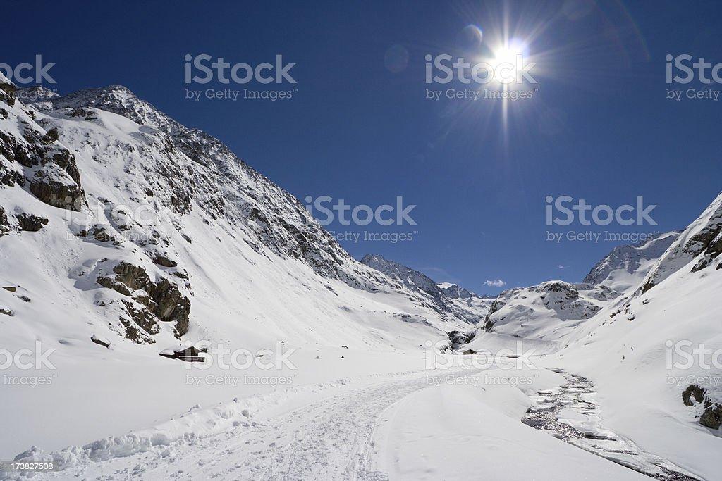 Austrian Winter Valley stock photo