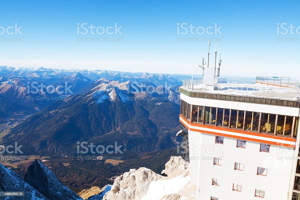 Austrian Zugspitze station stock photo